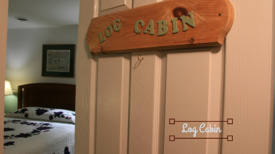 log cabin guest room is the perfect room to relax and reconnect