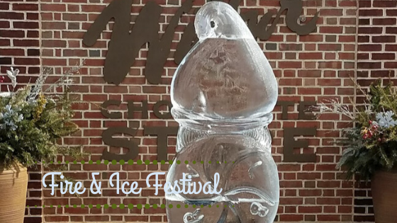 wilber bud ice sculpture from the lititz fire and ice festival