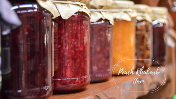 a row of jars of jam