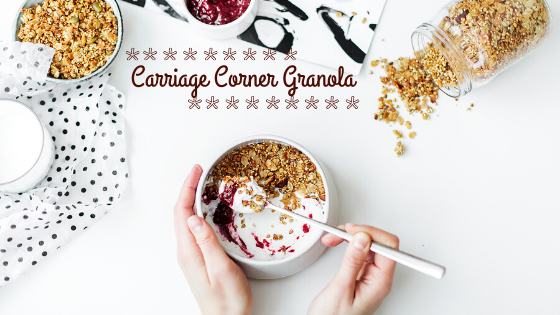 Cook Like You're Inspired:  Carriage Corner Granola