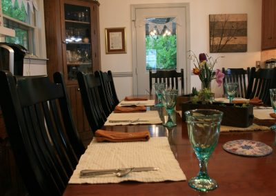 Places set for breakfast at Bed and Breakfast in Lancaster PA