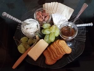 photo of the cheese plate you can add onto any stay at Carriage Corner