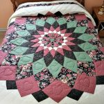 Giant Dahlia Quilt purchased at the Strasburg Mud Sale