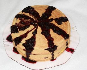 "Lemon Blueberry ""Pan"" Cake"