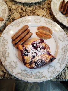 Lemon Blueberry Ricotta Baked French Toast