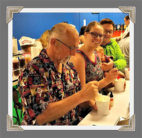 Jay, Krystle & Pat making their own ice cream flavors at the Turkey Hill Experience