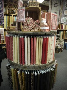 Beautiful Display of Quilt Fabric - Log Cabin Quilt Shop