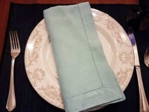 cloth napkins are a great green option for the environmentally friendly