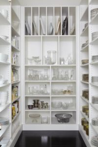 all the dishes in this butler's pantry
