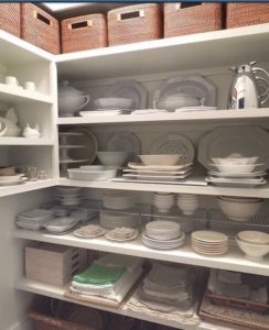 loads of storage in this butlers pantry