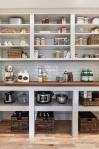 great cubbies for small appliance storage