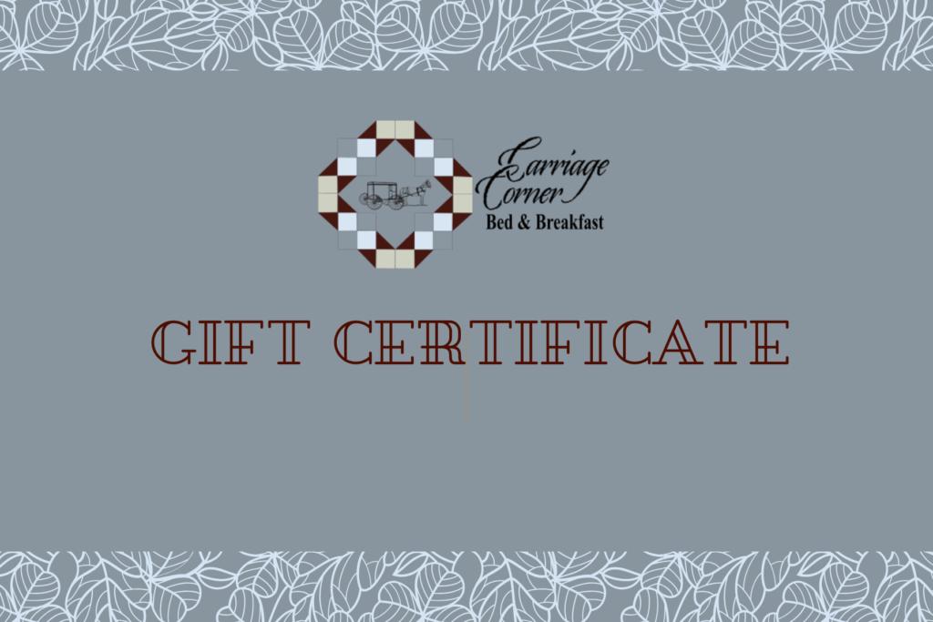 generic carriage corner gift certificate