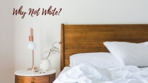 Here at Carriage Corner, we made a conscious decision not to use white sheets, but to use colorful bedding that felt more relaxed and welcoming. We hope you agree